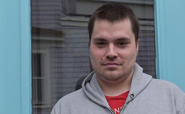 Brandon Foster, 31, has PTSD, anxiety with hallucinations and severe clinical depression. - CAORA MCKENNA