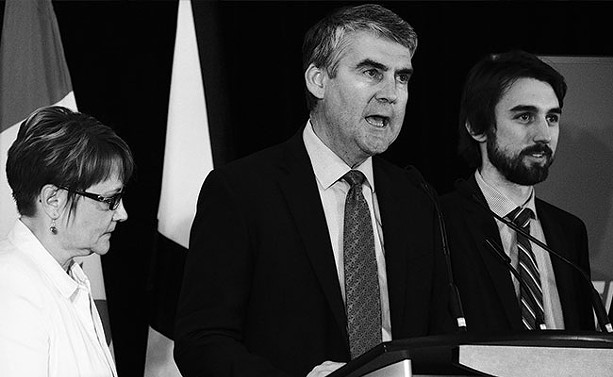 Premier Stephen McNeil giving his re-election victory speech this week. - TED PRITCHARD