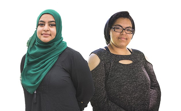 Kehisha Wilmot of the MSVU Queer Collective (above right) and Masuma Khan of the Dalhousie Student Union (left) want Pride to be intersectional. - DYLAN CHEW