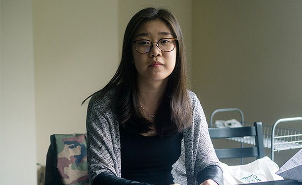 Jianing Xu, pictured here in her Halifax apartment. - IAN SELIG