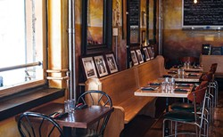The atmosphere at Brooklyn Warehouse is casual, but Ogilvie's ingredients and plating suggest a fine dining restaurant. - JESSICA EMIN