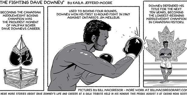The fighting Dave Downey celebrated at gala tribute