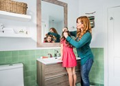 My favourite room: Rebekah Higg's green bathroom