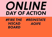 Friends of NSCAD mean business at Tuesday's Online Day of Action