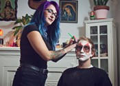 Creepy clown make-up tips from Elle Munster