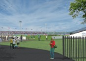 Pop-up soccer stadium could come together this summer
