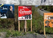 North Preston campaign signs defaced with racist imagery