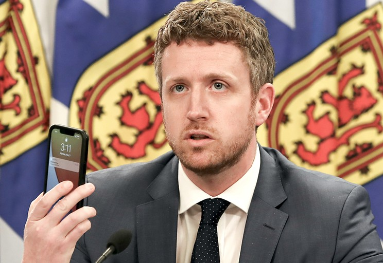 The young premier with a phone is mad at young people with phones. COMMUNICATIONS NOVA SCOTIA