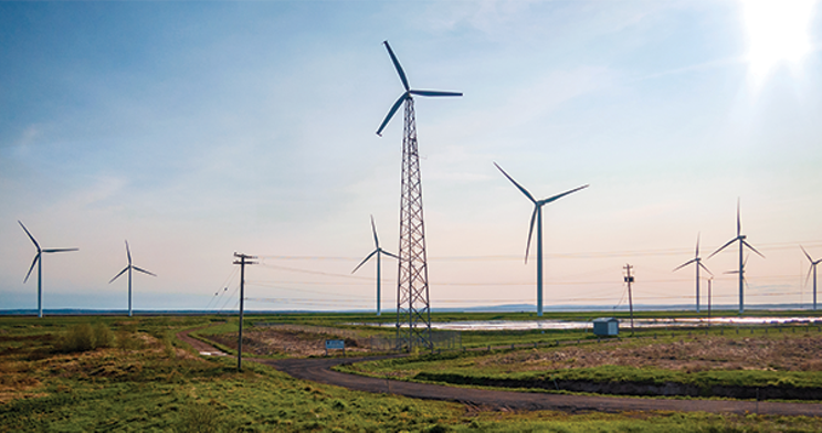 A wind farm near Amherst. STOCK