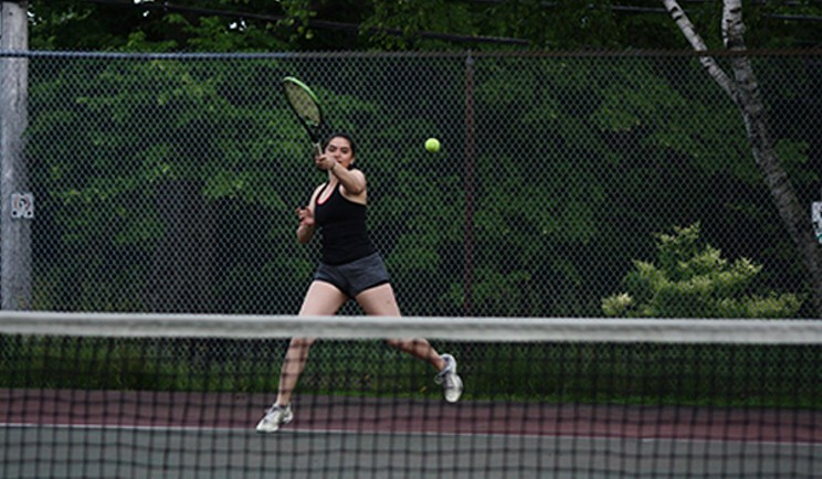 Nicolela at Dalhousie Tennis Courts (by Shirreff Hall). ASHLEY STRINGER