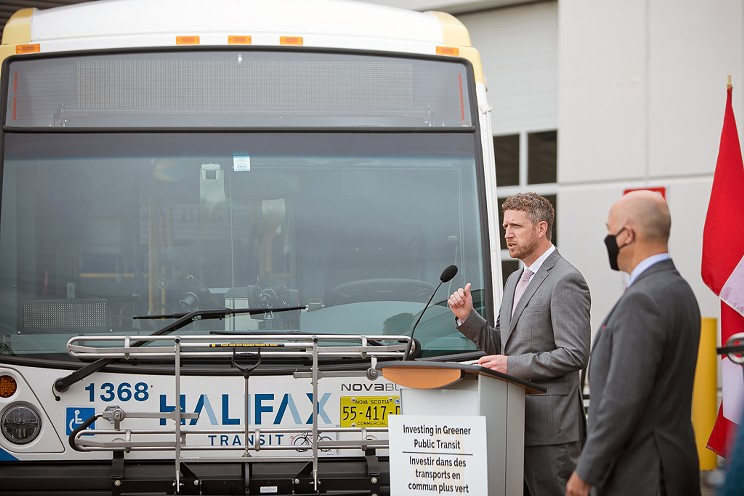 Electric buses arrived Thursday, and a provincial election call is sure to follow.