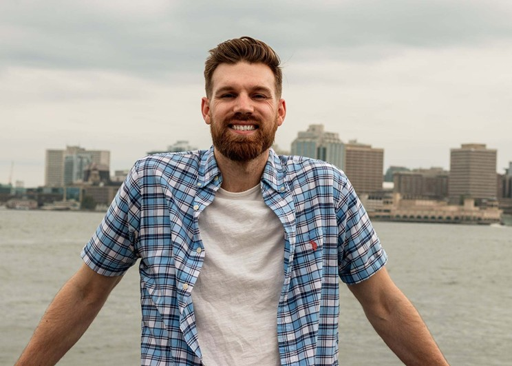 Bachelorette contestant Chris Gallant, 27, works as a content producer and public speaker in Halifax.