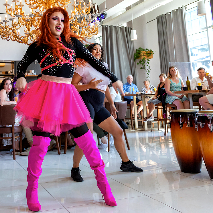 Experience Brunch at The Garden with queens including Zara Matrix, Lavender Steel and Farrah Moanz.
