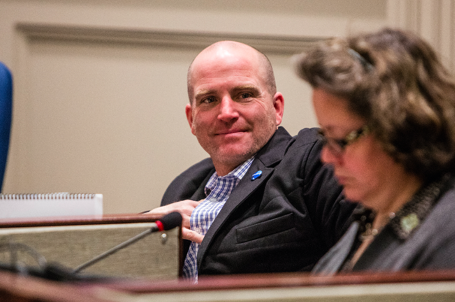 Councillor Matt Whitman at City Hall. - RILEY SMITH