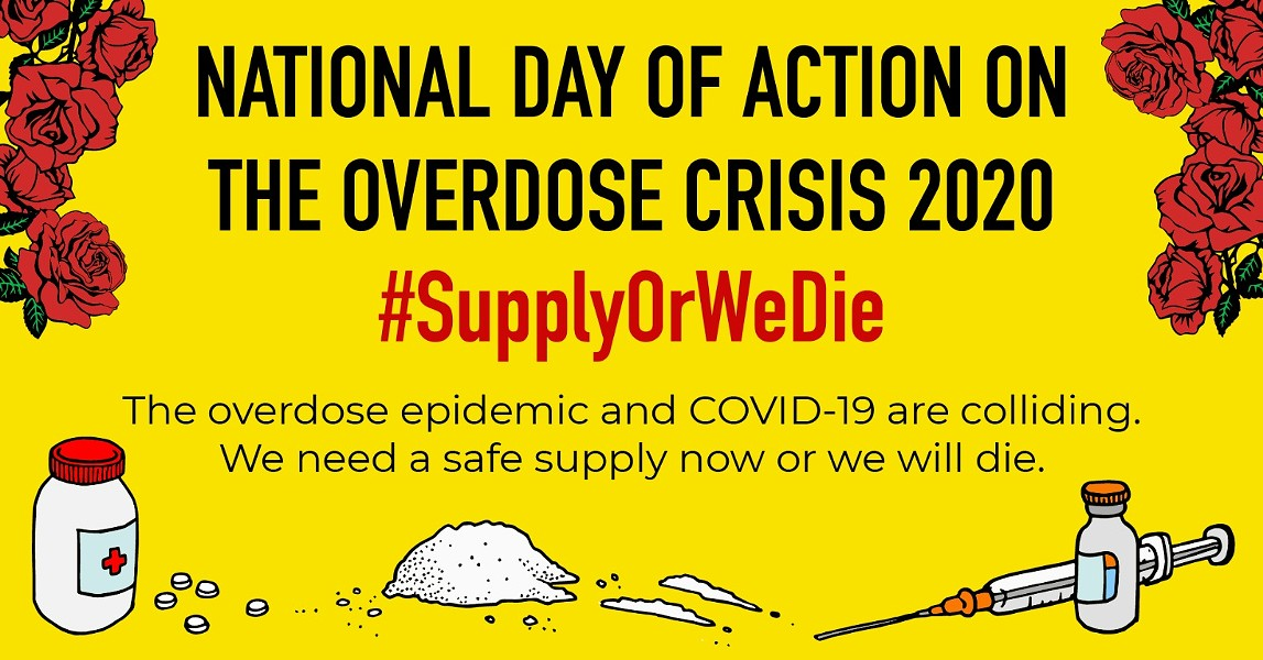Thursday, April 30 is the National Day of Action on the Overdose Crisis 2020. Since 2016, more than 9,000 Canadians have died from an overdose. - SUBMITTED