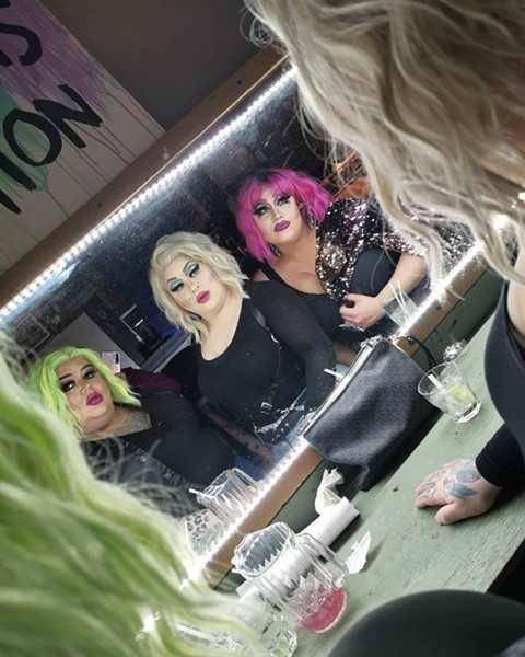 """Haus of Jeckyll is a trio of drag queens that regularly performed at Menz. """"This was a second home and safe haven for not only us, but a lot of people in our community. Sending so much love and light to our amazing queer community in Halifax,"""" wrote the performers in a Facebook post commemorating the bar. - FACEBOOK SCREENSHOT"""
