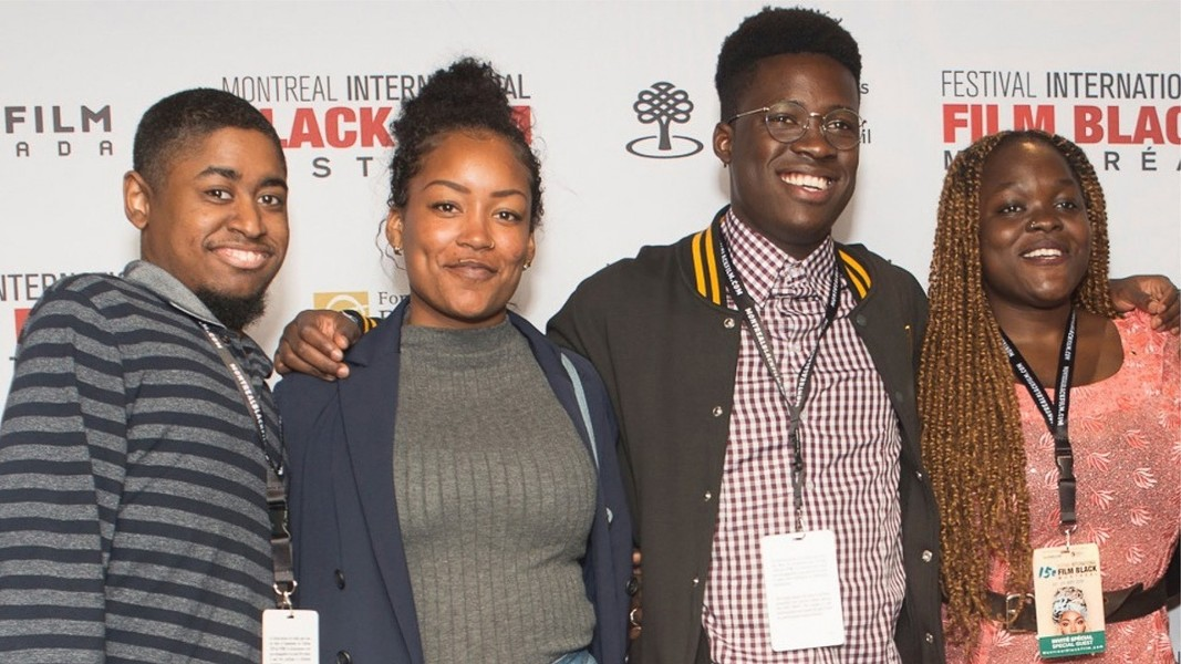 Latesha Auger (second left) is an emerging filmmaker and multi-media storyteller. - SUBMITTED