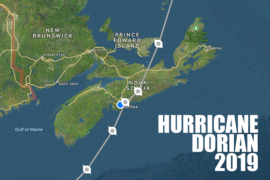 Last year Hurricane Dorian came ashore aiming right at Halifax. - HURRICANES PRO APP