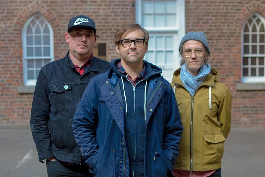 Kestrels' Chad Peck (center) delivers a guitar nerd's dream on the band's latest LP. - MEG YOSHIDA PHOTO