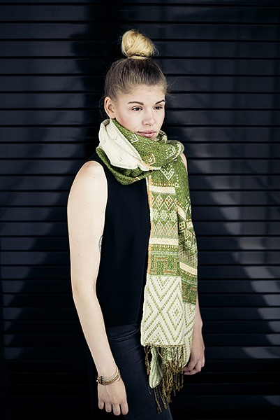 One of Second Life Ethiopian Artisans' handwoven scarves - PHOTO BY LUKE&ALEXA