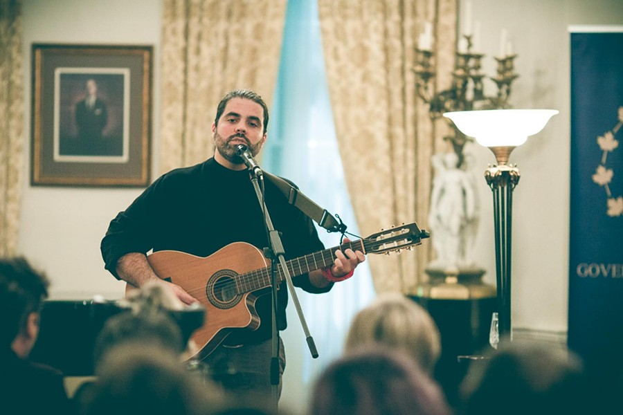 Don Brownrigg at Government House - LENNY MULLINS