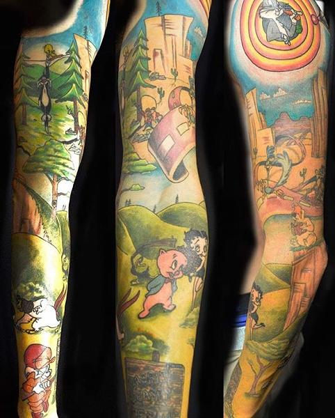 This client went full Looney - COURTESY OF DEUCE TATTOOS