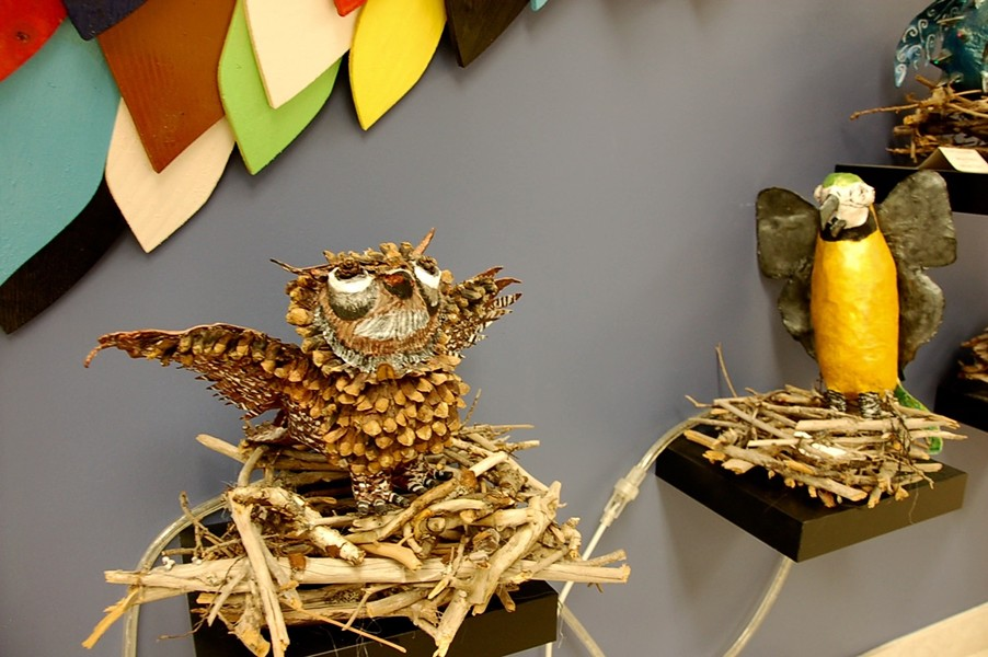 These paper maché birds are as unique as the students who made them. - ASHLEY CORBETT