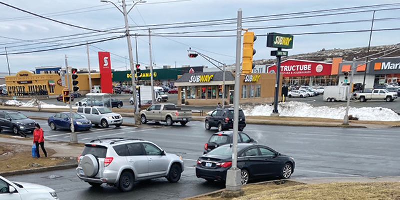 Unpaved sidewalks like the ones pictured above outside Walmart in Bayers Lake make shopping dangerous for people with physical or visiual impairments.