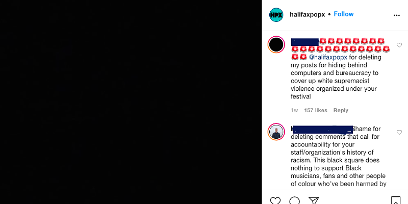 The now-deleted Instagram post that kicked off the controversy.