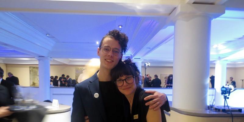Atlantic nominee Lisa Lipton (right) & friend