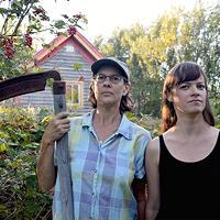 Aube Giroux (right) and Modified's executive producer Camelia Frieburg.