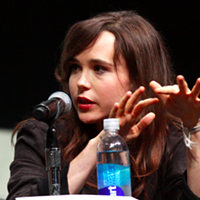 Ellen Page speaking at the 2013 San Diego Comic Con for X-Men: Days of Future Past.