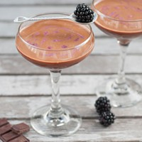 Make Chocolate Hackers' buttery maple and dark chocolate martini for V-Day.