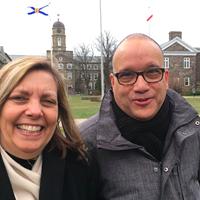 Josefina Vidal with Dalhousie prof Isaac Saney (right) during her visit to Nova Scotia.