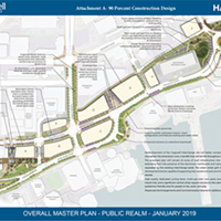 The Cogswell redevelopment 90 percent plan will bring green space and car-second transit to the area.
