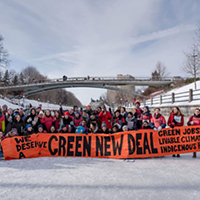 Organizers skated their ideas to the PowerShift youth climate conference in February.