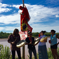 Treaty Assertion on the Sipekne'katik River.