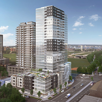 A rendering of the proposed Willow Tree development.