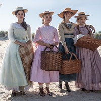 The all-star sisterhood in Little Women (from left, Emma Watson, Florence Pugh, Saoirse Ronan and Eliza Scanlen) play and perform within Gerwig's rich world with equal parts realism and whimsy.