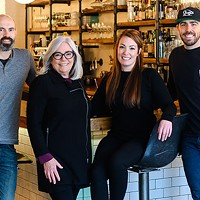 EDNA and jane's owners new and old, from left: Alex Billingsley, Jane Wright, Jenna Mooers and Andy Hay (Heather Billingsley not pictured).