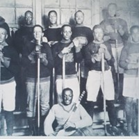 A 1921 photograph of Coloured Hockey League team The Africville Sea-Sides—a rare piece of history of the longstanding legacy of Black hockey players in Canada.