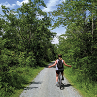 It's smooth sailing while you ride along the Shearwater Flyer Trail.