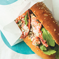 LF Bakery's lobster roll hits the spot for lunch on Gottingen Street.