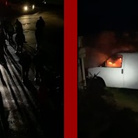 An angry mob of non-Indigenous lobster fishermen trapped two Mi'kmaw fishermen inside a lobster pound in West Pubnico, NS and set a van on fire on Oct. 13.