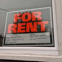 A notice for a unit currently for rent at 2323 Agricola Street. A two-bedroom unit in the same building was renting for $1245 in 2017. That's an increase of 43 percent over three years.