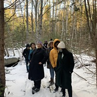Members of Change Is Brewing Collective, Vanessa Hartley of SEED (South End Environmental Injustice Society) and Buy Black Birchtown co-founder Lauryn Guest on the Birchtown property