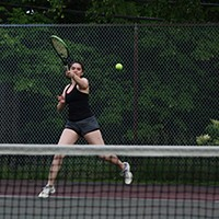 Nicolela at Dalhousie Tennis Courts (by Shirreff Hall). SUBMITTED