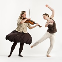 Dancer Heather Laura Gray and musician Tawnya Popoff from Speaking in Ligeti