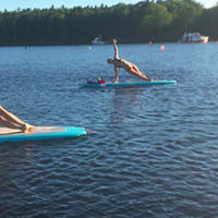 Sign up for some stand-up paddleboard yoga tonight in St. Margaret's Bay.