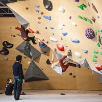 Seven Bays Bouldering—full body work out and adult jungle gym